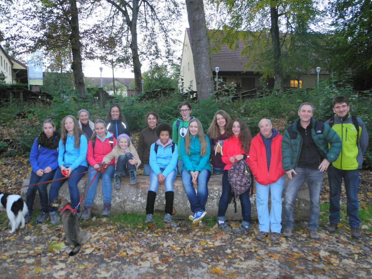Gruppenbild der Wandertruppe
