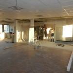 Die Wände sind entfernt, der Saal erweitert