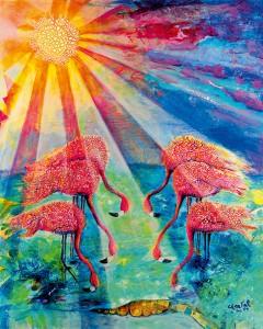 """Titelbild zum Weltgebetstag 2015 von den Bahamas, """"Blessed"""", Chantal E. Y. Bethel/ Bahamas, © Weltgebetstag der Frauen - Deutsches Komitee e.V."""